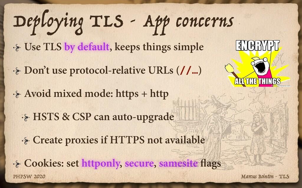 Marcus Bointon - TLS PHPSW 2020 Use TLS by defa...
