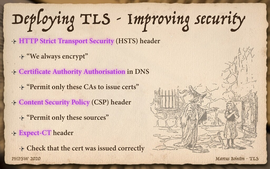 Marcus Bointon - TLS PHPSW 2020 Deploying TLS -...