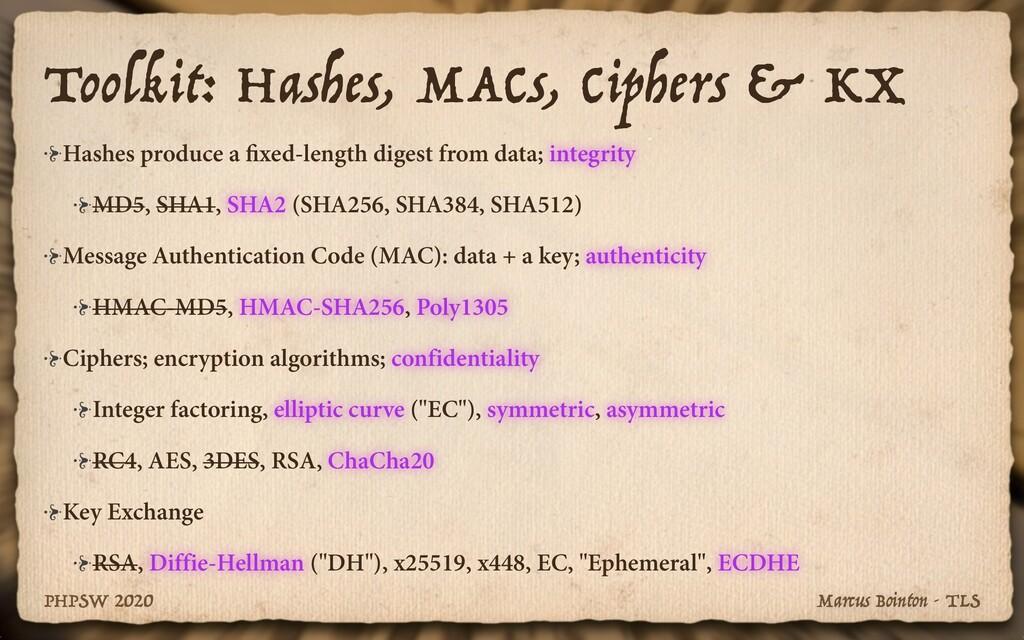 Marcus Bointon - TLS PHPSW 2020 Toolkit: Hashes...