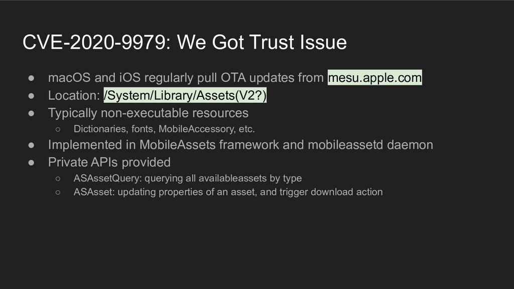 CVE-2020-9979: We Got Trust Issue ● macOS and i...