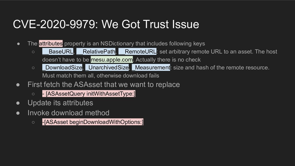 CVE-2020-9979: We Got Trust Issue ● The attribu...