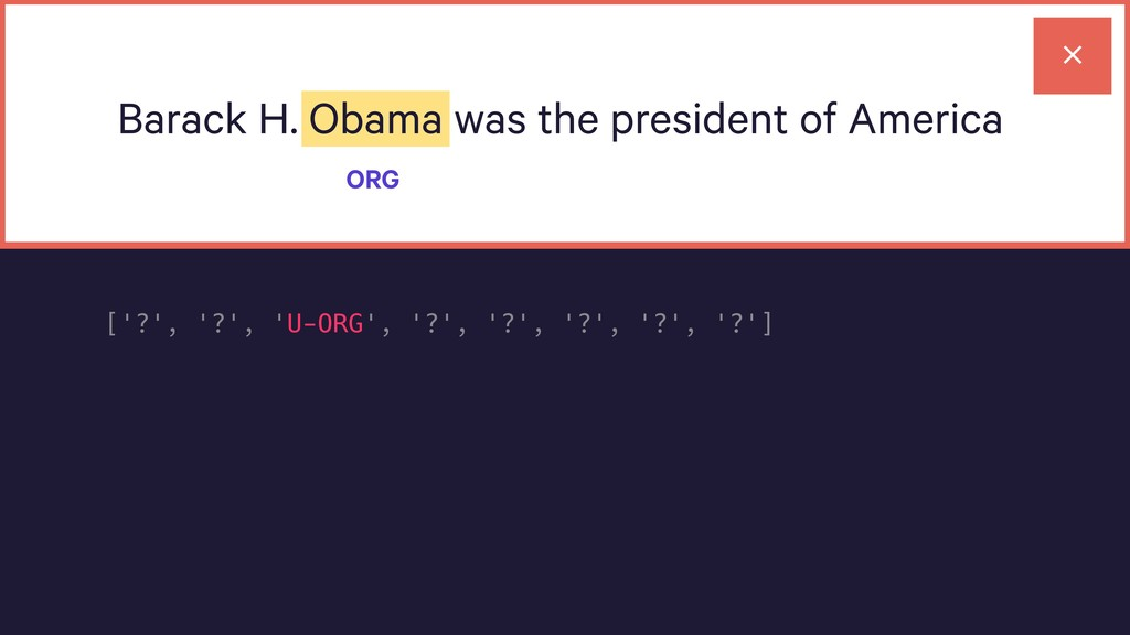 Barack H. Obama was the president of America OR...