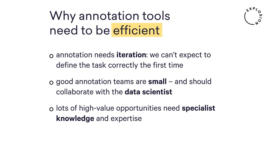 annotation needs iteration: we can't expect to ...