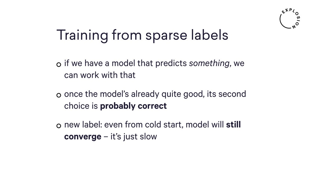 Training from sparse labels if we have a model ...
