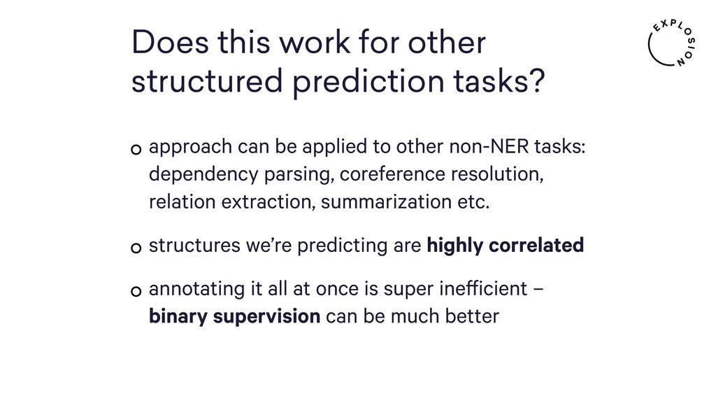 Does this work for other structured prediction ...