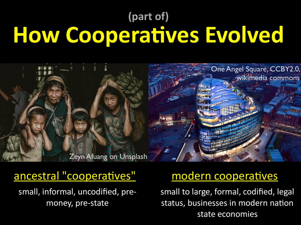 (part of) How Coopera,ves Evolved modern cooper...