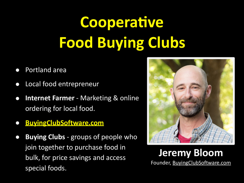 Coopera,ve Food Buying Clubs ! Portland area ! ...