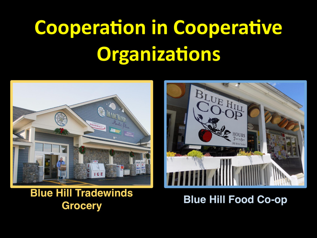 Coopera,on in Coopera,ve Organiza,ons Blue Hill...