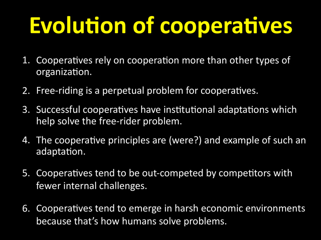 1. Coopera=ves rely on coopera=on more than oth...