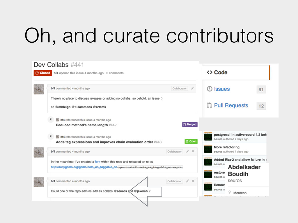 Oh, and curate contributors