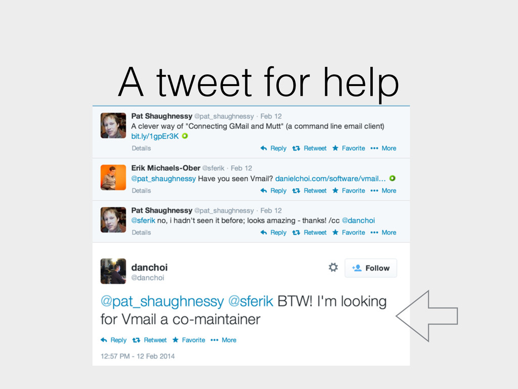 A tweet for help