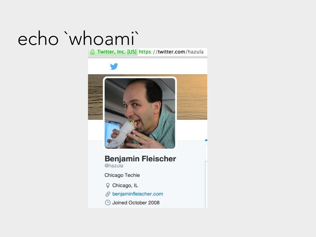 echo `whoami`