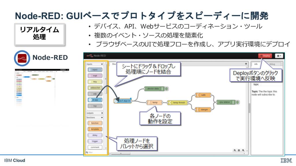 IBM Cloud Node-RED: GUI   - •...