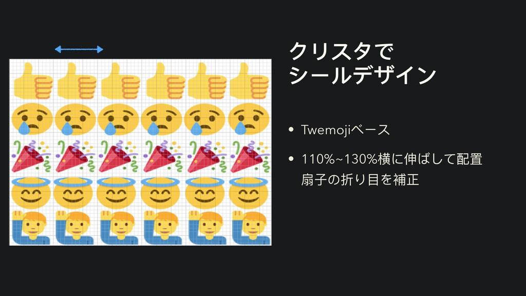 クリスタで   シールデザイン • Twemojiベース   • 110%~130%横に伸ばし...
