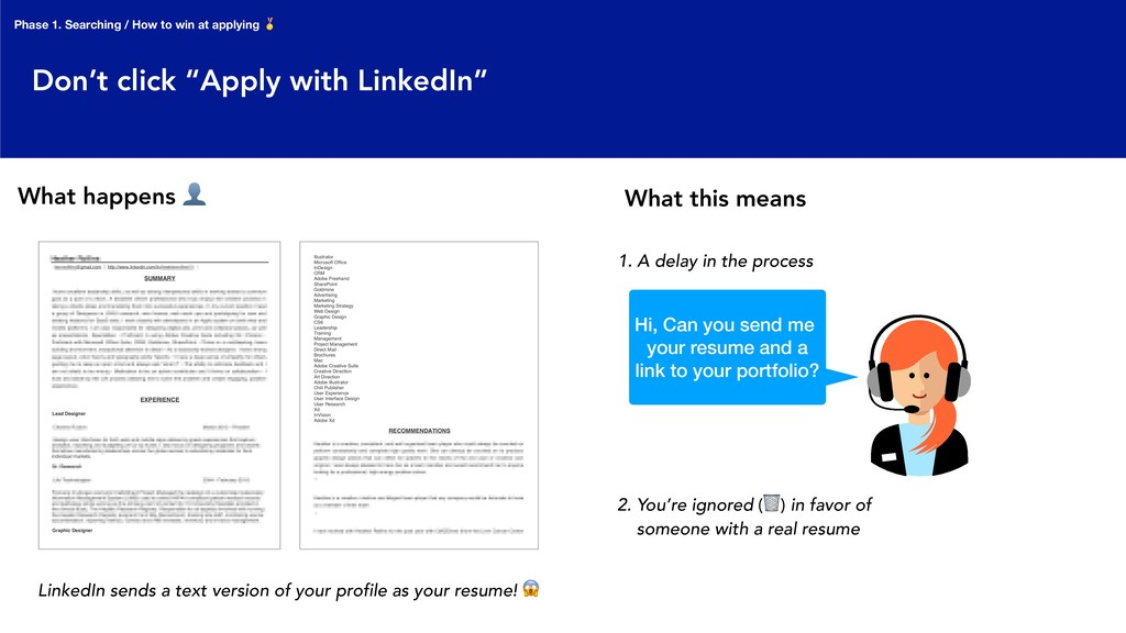 """Don't click """"Apply with LinkedIn"""" 1. A delay in..."""