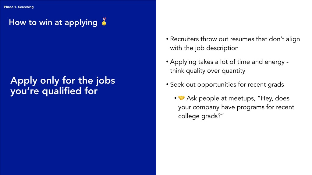 • Recruiters throw out resumes that don't align...
