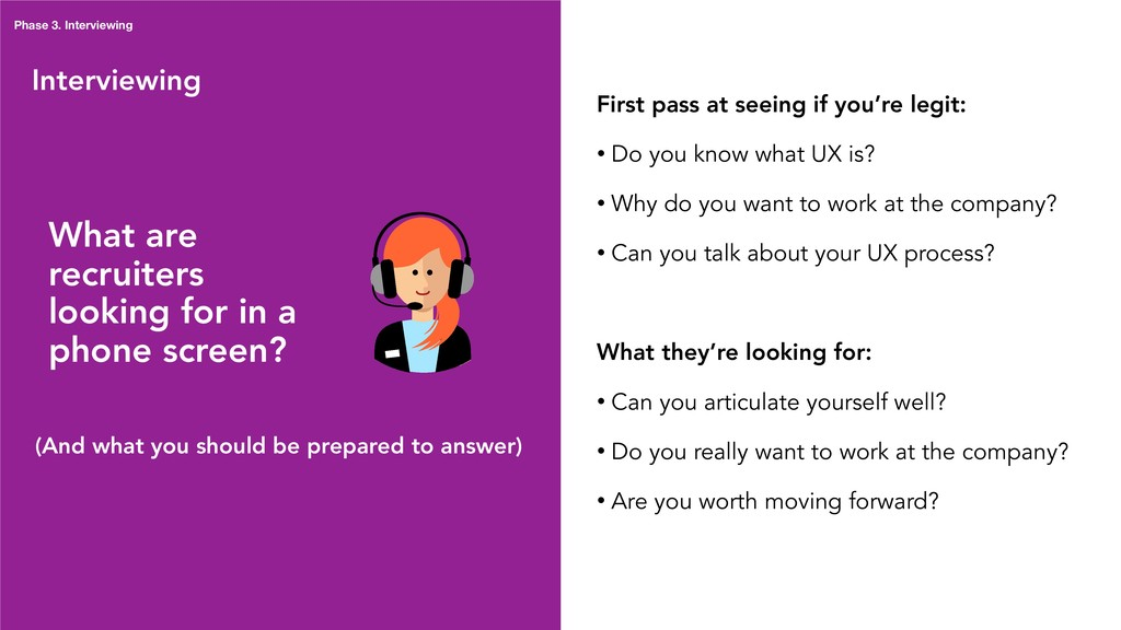 Interviewing What are recruiters looking for in...