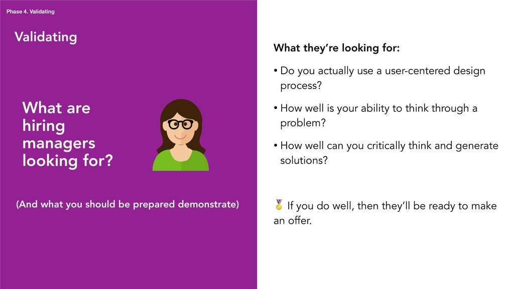 Validating What are hiring managers looking for...