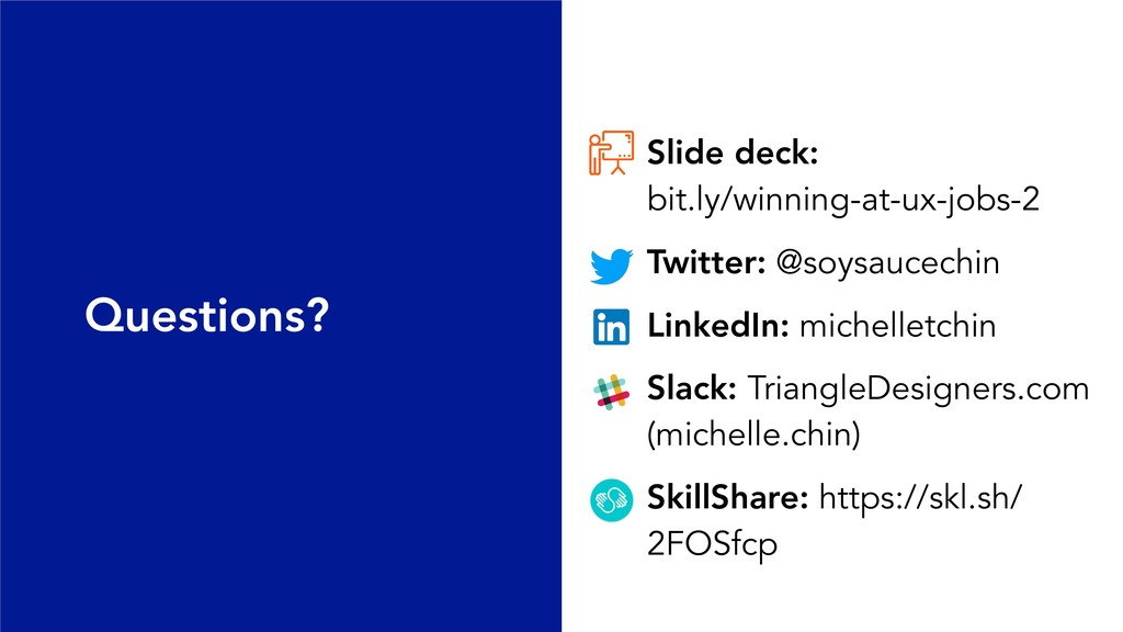 Slide deck: bit.ly/winning-at-ux-jobs-2 Twitte...