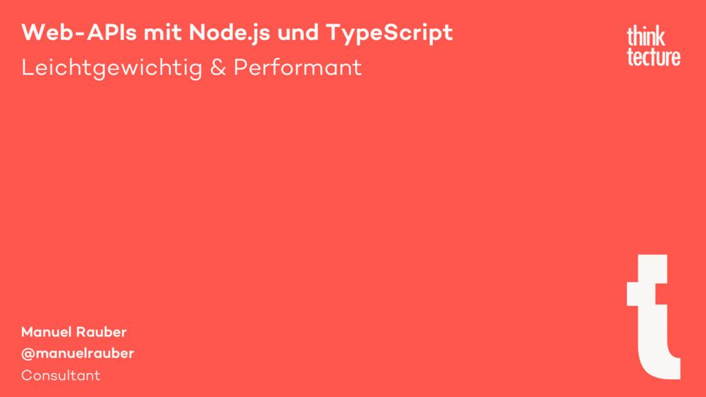 Web-APIs mit Node.js und TypeScript Leichtgewic...
