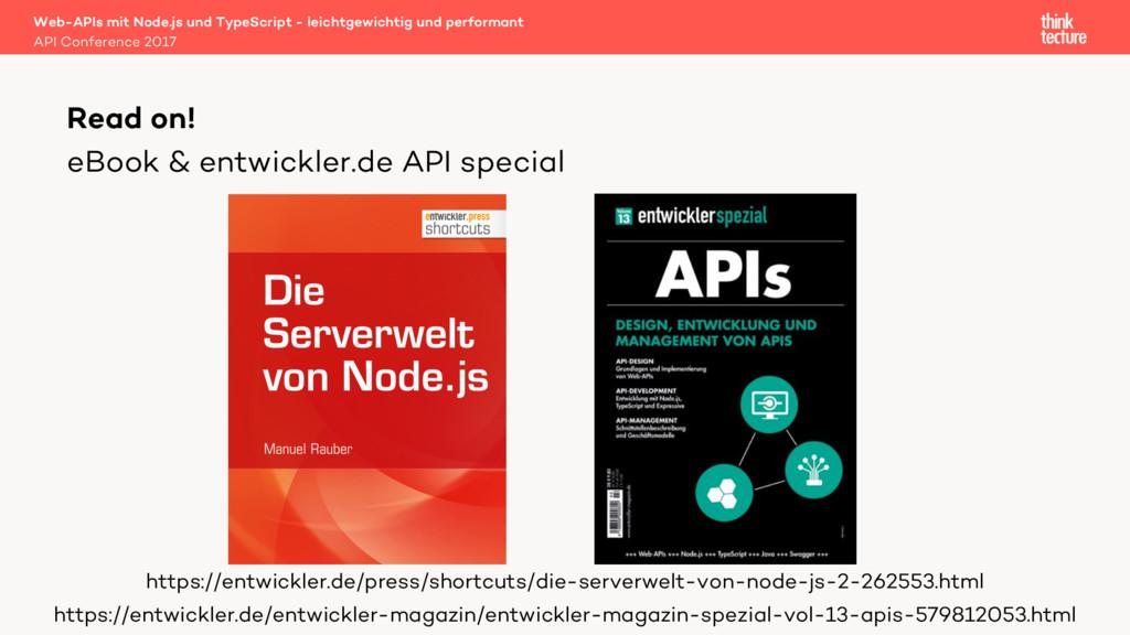 eBook & entwickler.de API special Web-APIs mit ...