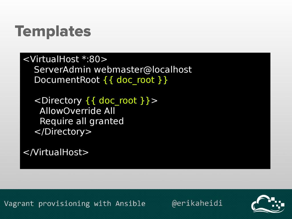 Templates <VirtualHost *:80> ServerAdmin webmas...