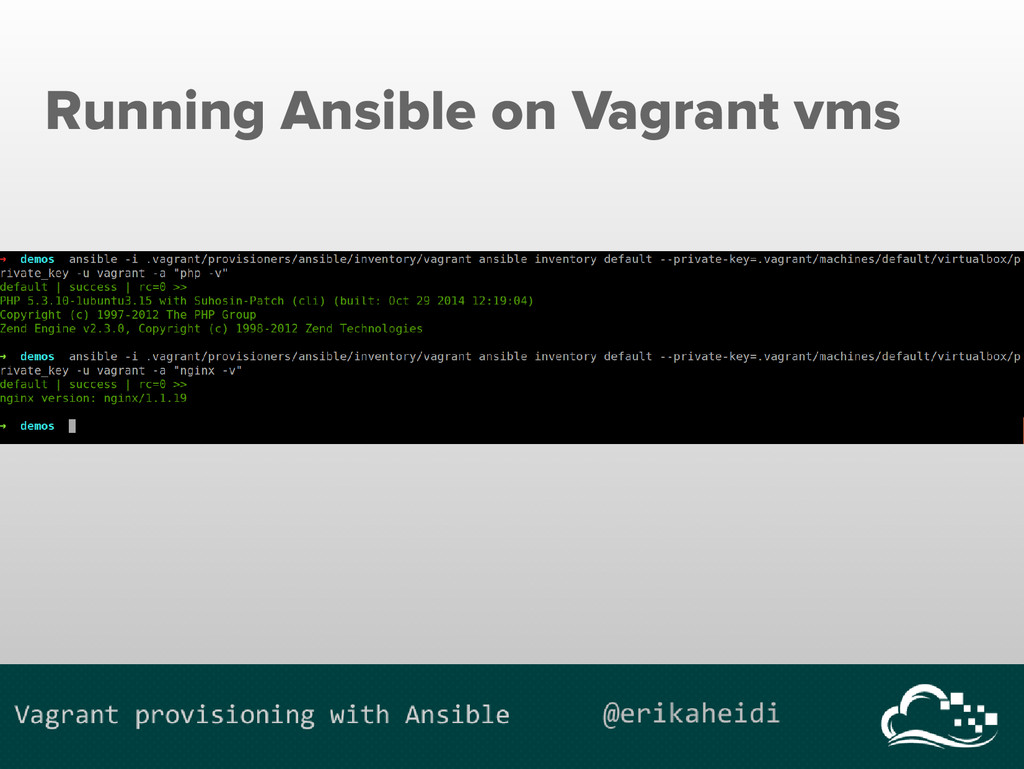 Running Ansible on Vagrant vms