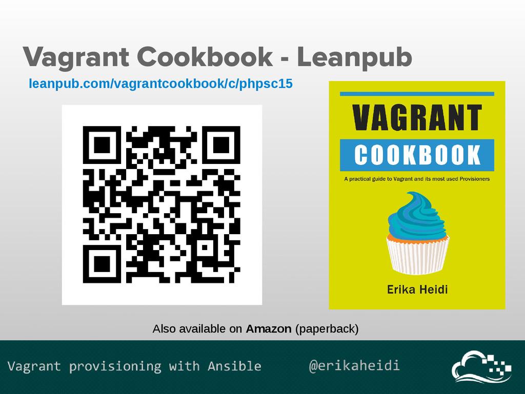 Vagrant Cookbook - Leanpub leanpub.com/vagrantc...