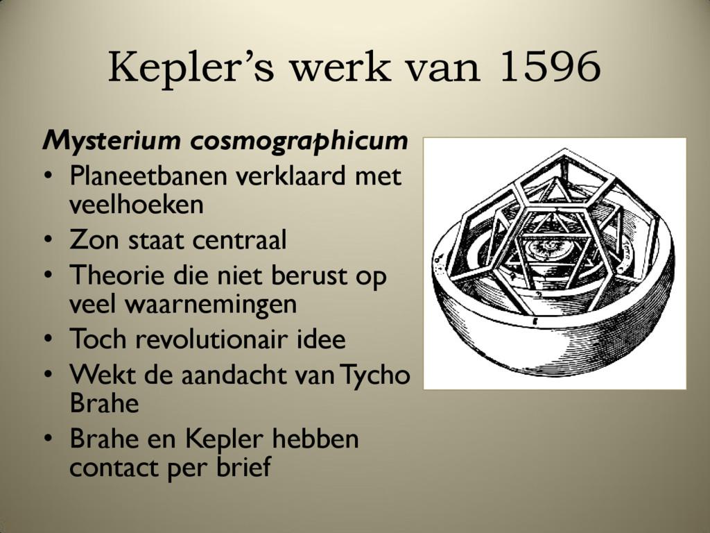 Kepler's werk van 1596 Mysterium cosmographicum...