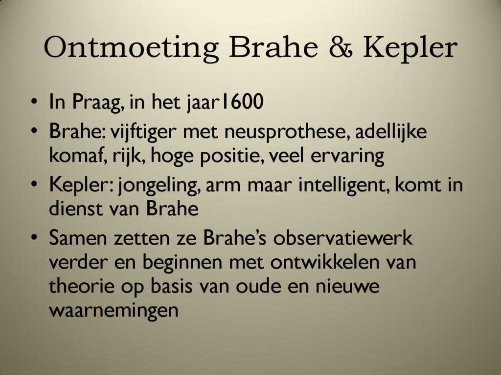 Ontmoeting Brahe & Kepler • In Praag, in het ja...