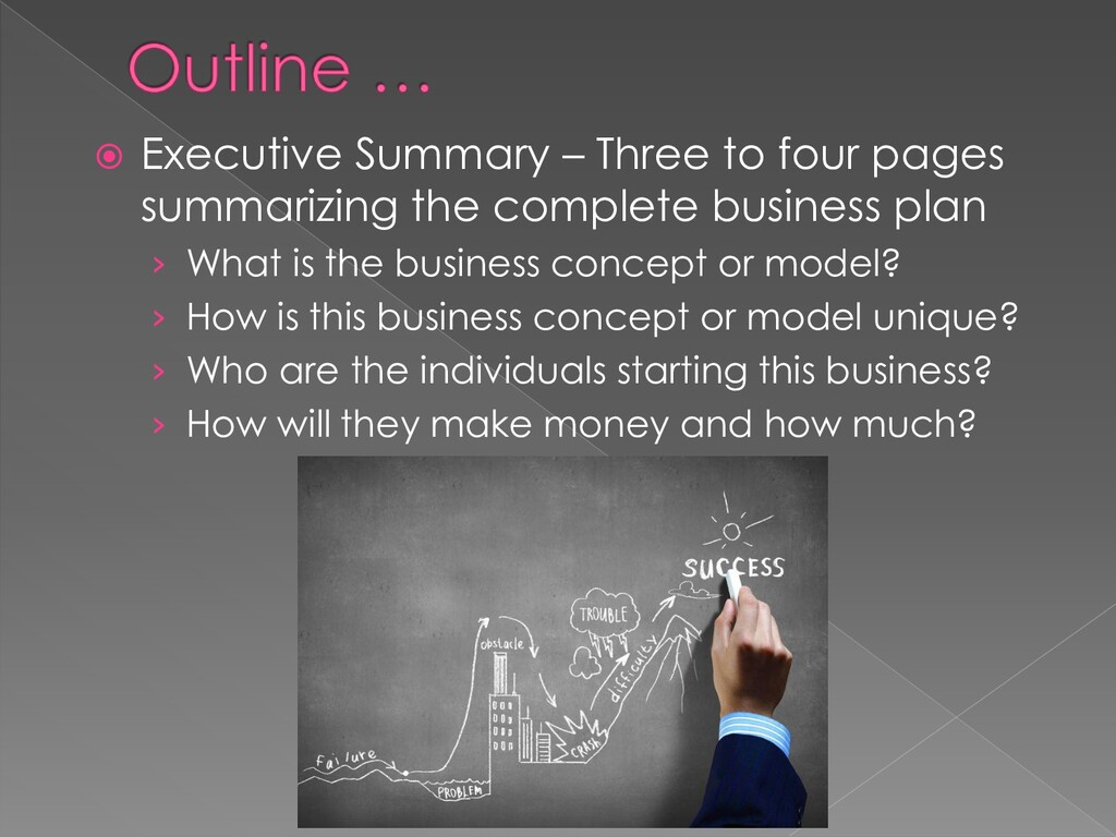  Executive Summary – Three to four pages summa...
