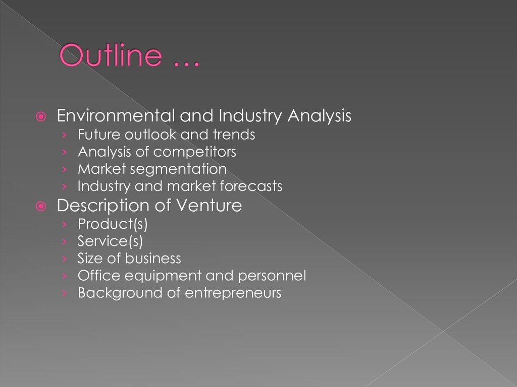  Environmental and Industry Analysis › Future ...