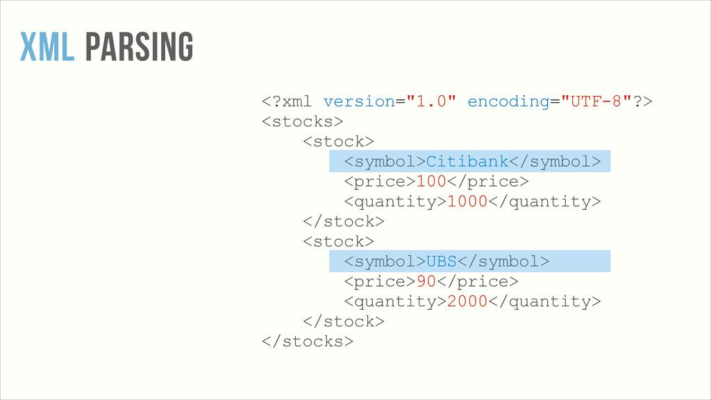 """XML PARSING <?xml version=""""1.0"""" encoding=""""UTF-8..."""