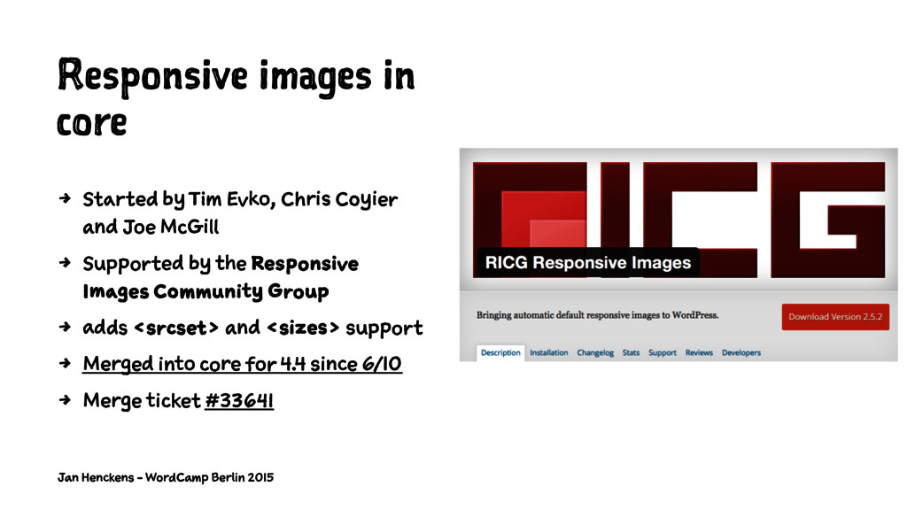 Responsive images in core 4 Started by Tim Evko...