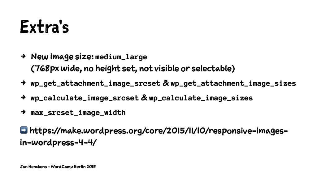 Extra's 4 New image size: medium_large (768px w...