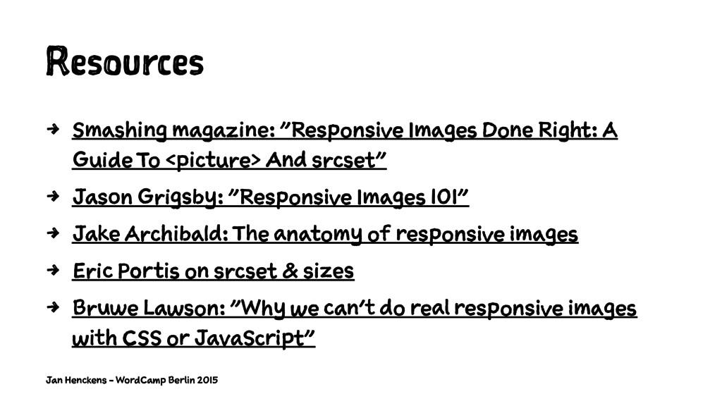 "Resources 4 Smashing magazine: ""Responsive Imag..."