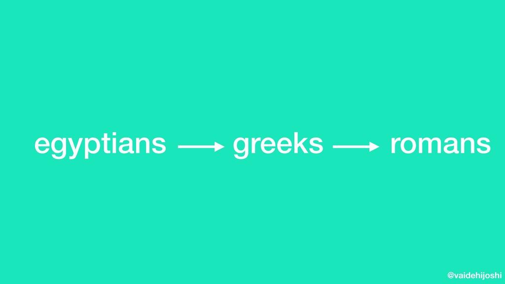 @vaidehijoshi egyptians greeks romans