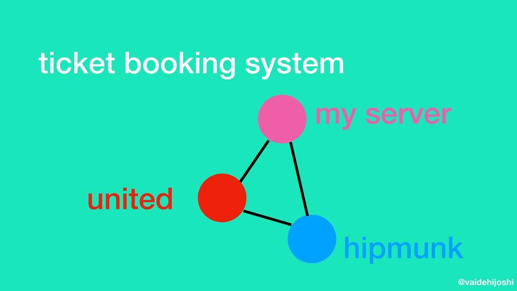 @vaidehijoshi ticket booking system my server h...