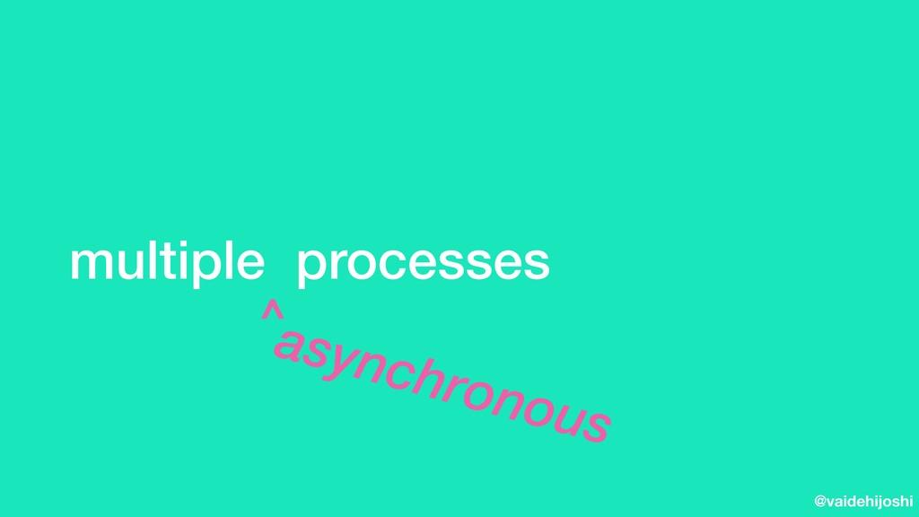 @vaidehijoshi multiple processes asynchronous ^