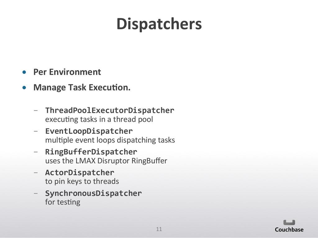 11  Dispatchers  • Per Environment ...