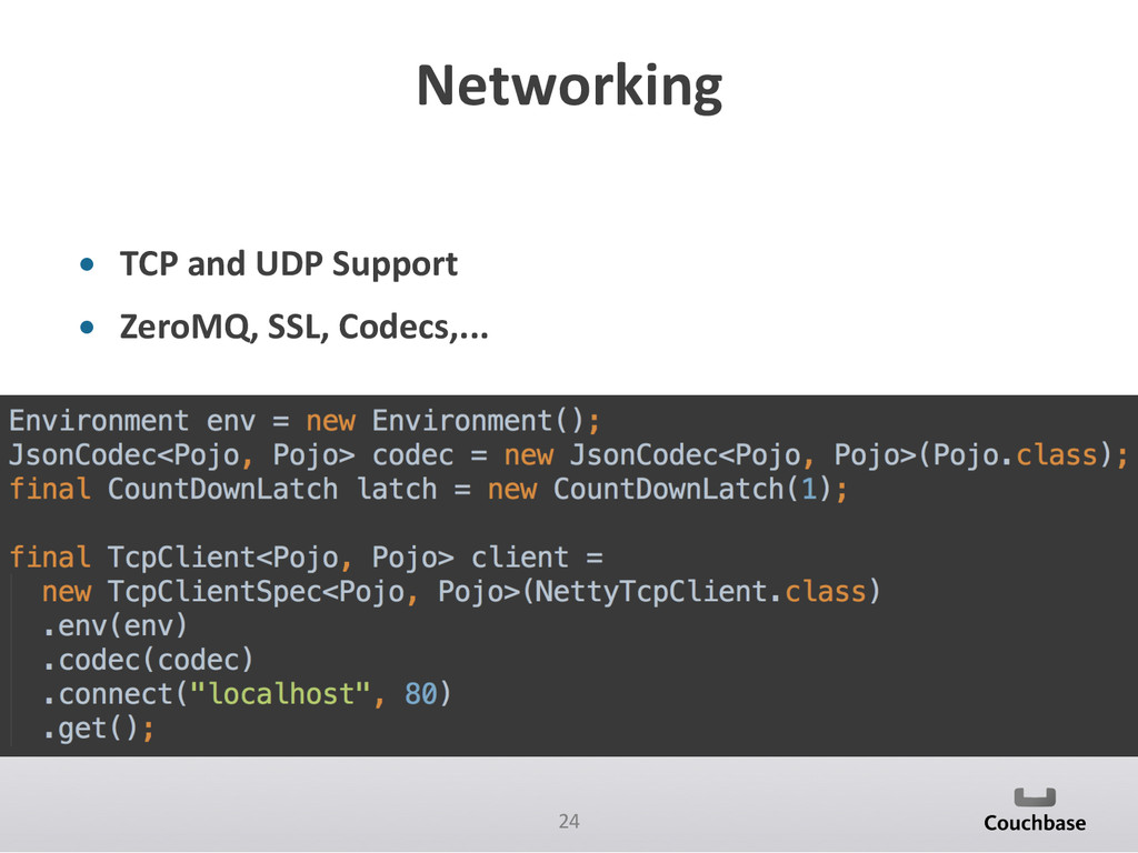 24  Networking  • TCP and UDP S...
