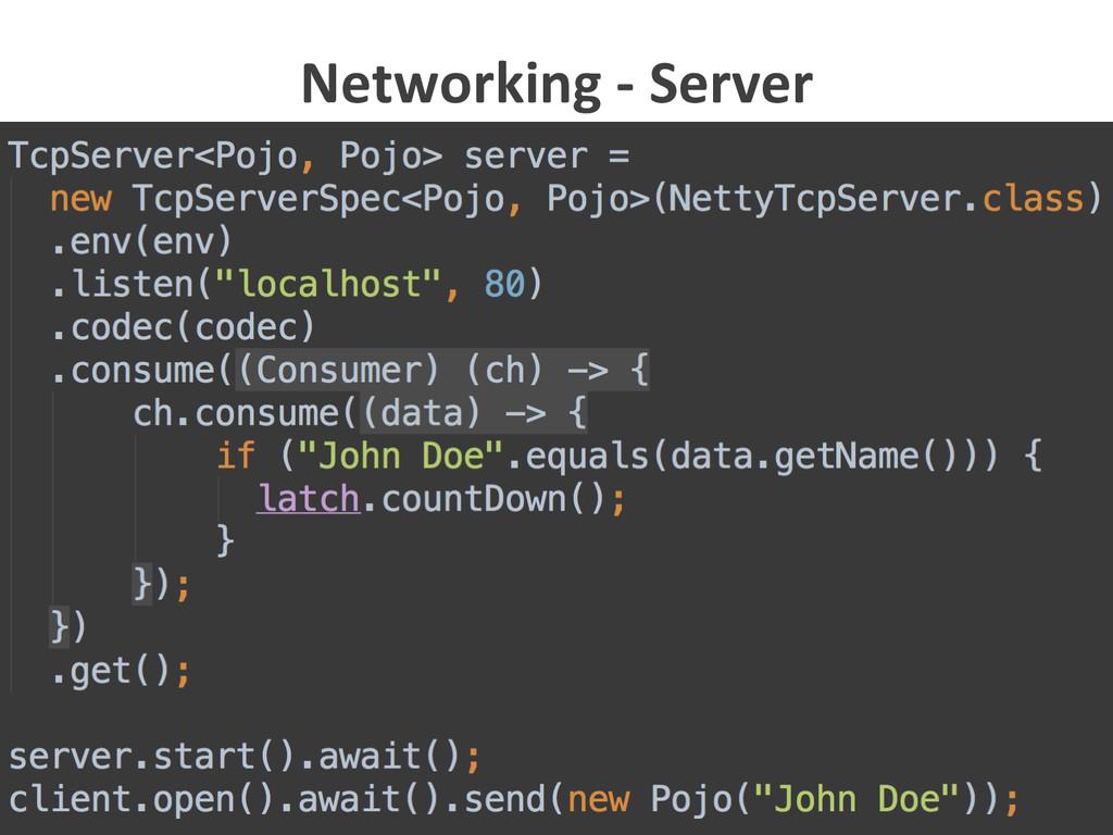 25  Networking -‐ Server