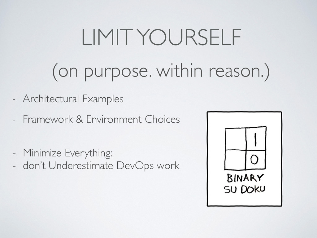 LIMIT YOURSELF (on purpose. within reason.) - A...