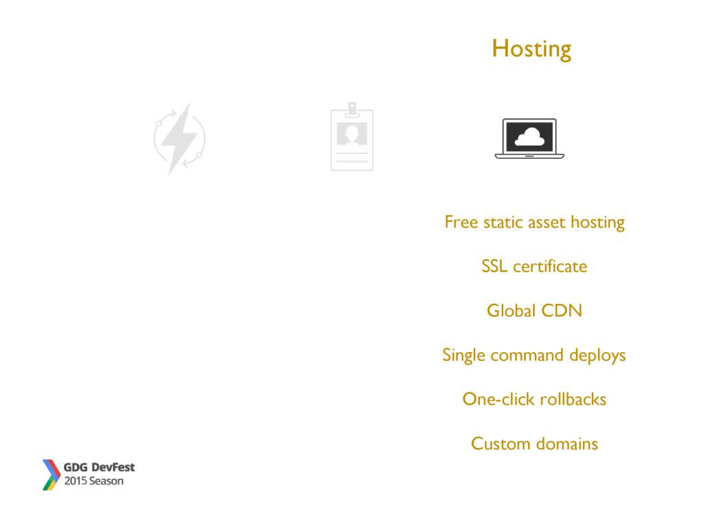 Hosting Free static asset hosting SSL certifica...