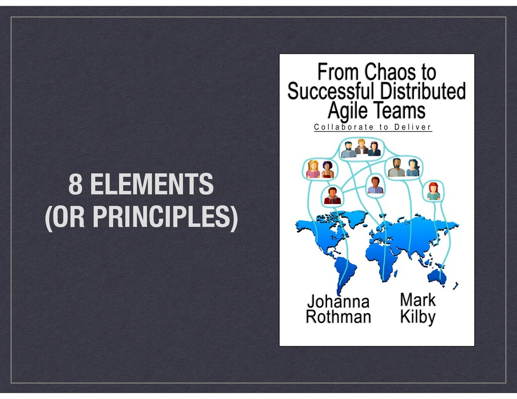 8 ELEMENTS (OR PRINCIPLES)