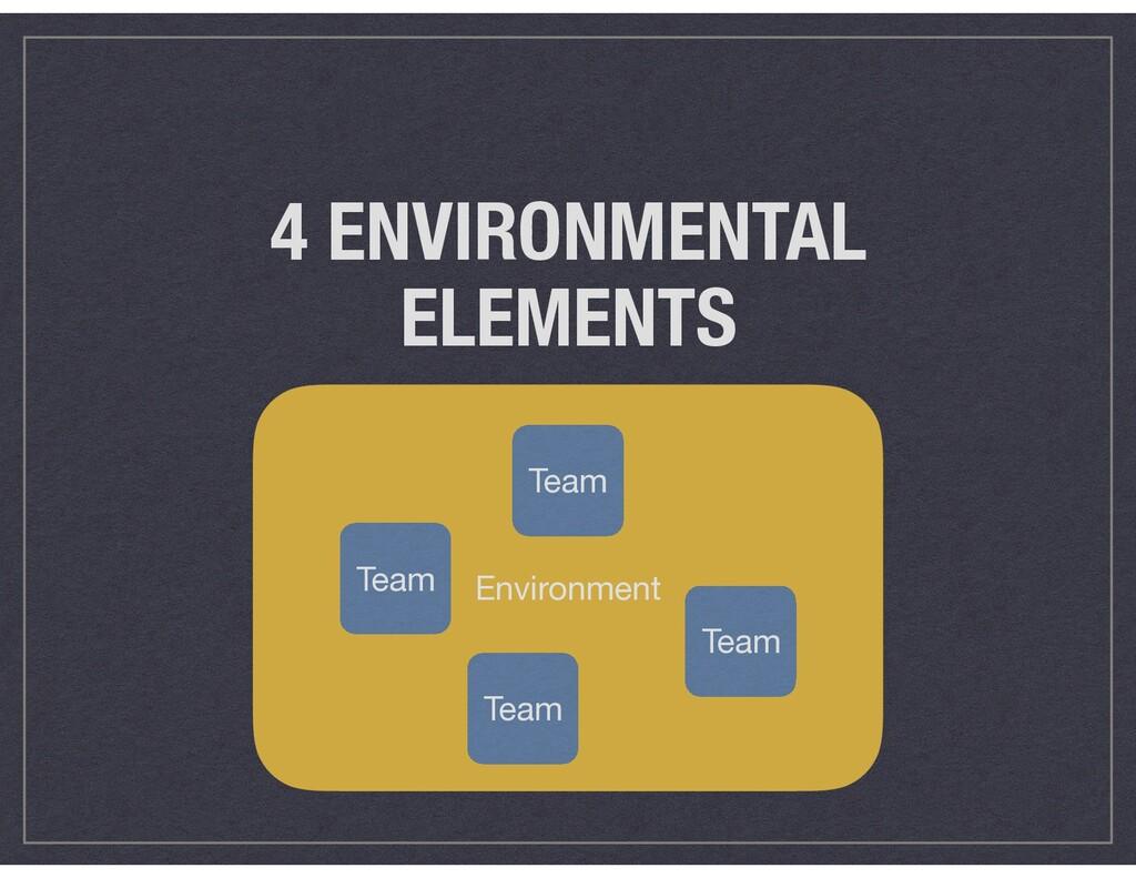 Environment 4 ENVIRONMENTAL ELEMENTS Team Team ...