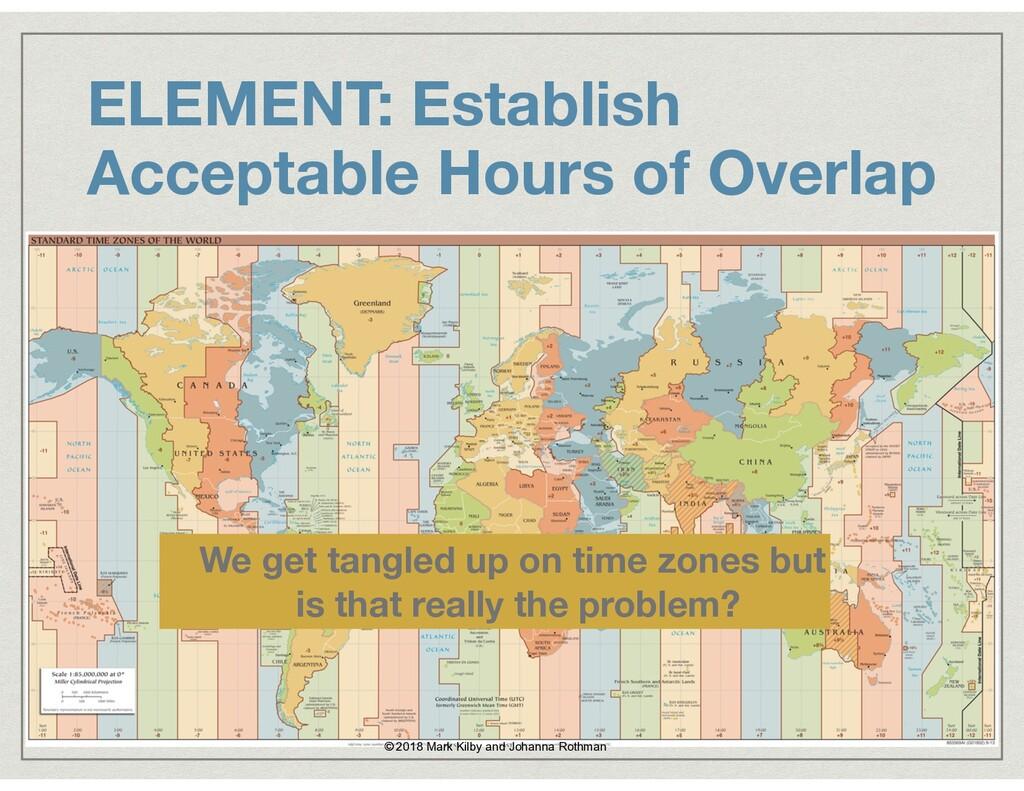 ELEMENT: Establish Acceptable Hours of Overlap ...