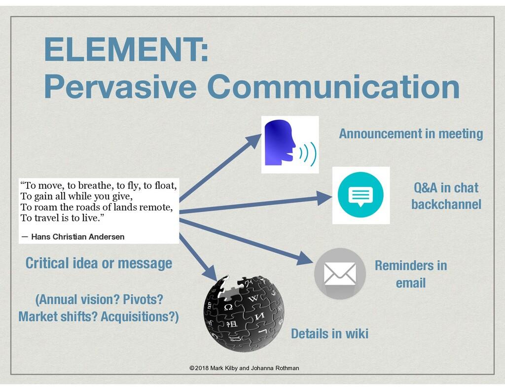 ELEMENT:  Pervasive Communication © 2018 Mark ...