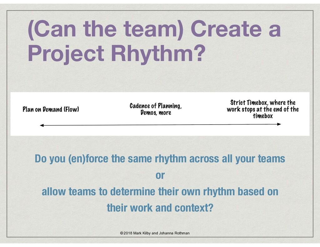 (Can the team) Create a Project Rhythm? © 2018 ...