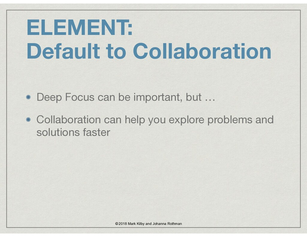 Deep Focus can be important, but …  Collaborati...